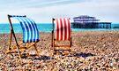 Deckchairs - Brighton Beach - Orton  by Colin J Williams Photography
