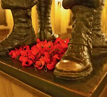 Poppies And Boots by phil decocco