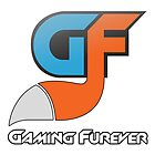 Gaming Furever Logo White Outlined by GamingFurever