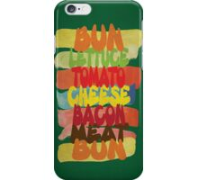 Funny Burger Typography Art iPhone Case/Skin