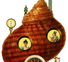 Steampunk Snail Shell by Tickleart
