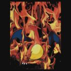 Charizard Pokemon Shirt FIRE!  by linwatchorn