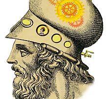 Steampunk Greek Helmet by Tickleart