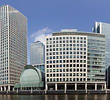Canary Wharf Panorama by John Gaffen