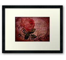 O Rose Thou Art Sick Framed Print