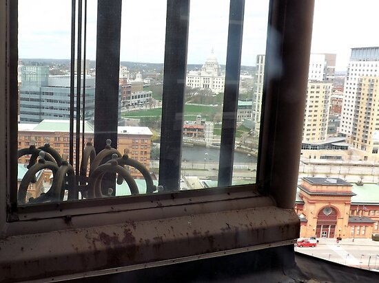 Top of the Providence Biltmore Glass Elevator by iheartrhody