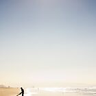 Surfer on the Sand by Jordan Dunn