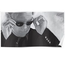 Horatio Caine / David Caruso B&W Poster