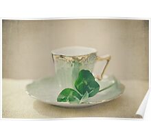 tea and clover Poster