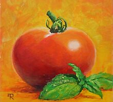 """Tomato With Basil"" by Tatiana Roulin"