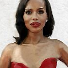 Kerry Washington Portrait by Philip Thompson