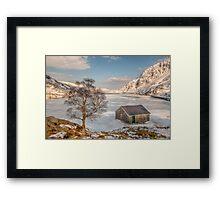 Frozen Lake Ogwen Framed Print