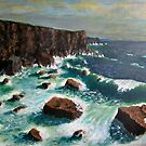 Cliffs,Rocks & Waves by WILT