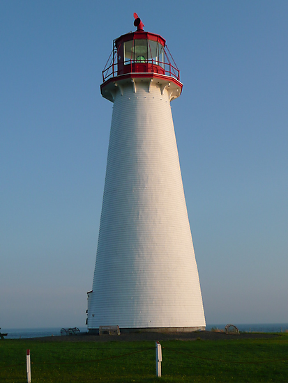 White and Red Lighthouse by Rachel Gagne