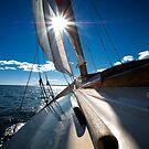 Sailing, Sun Burst by KellyHeaton