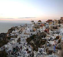 Sunset in Oia, Santorini by kateabell