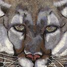 Natures Fiber Mountain Lion by Dena Kotka-Holtz