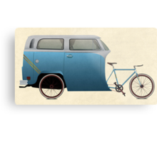 Camper Bike Metal Print