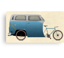 Camper Bike Canvas Print