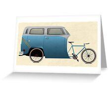 Camper Bike Greeting Card