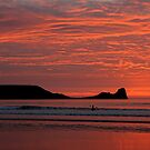 Last Surf at Rhossili by rltbevan