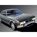 Peugeot 504 Coupe Poster illustration by Autographics
