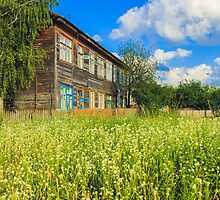 Old Wood House On The Countryside by GrishkaBruev