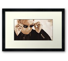 Horatio Caine / David Caruso Duotone Framed Print