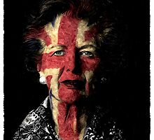 Margaret Thatcher Red White and Blue by Steve's Fun Designs