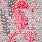 Mosaic Seahorse by Janet Broxon