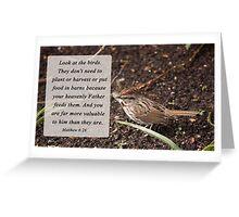 Matthew 6:26 Greeting Card