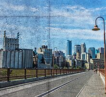Postcard from the Stone Arch Bridge by susan stone