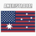 Ameristralia Flag (Text One) by HeyHaydn