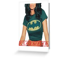 Classified - The Bat  Greeting Card