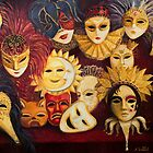 Venetian Masks by kirilart