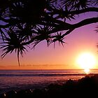 Burleigh Heads Purple Sunrise, Gold Coast, Australia - ANZAC Day 2013 by kdrummondphotos