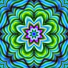 Kaleidoscope Fantasy Flower fractal art by walstraasart
