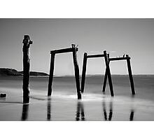 Flat Light = Black and White Photographic Print