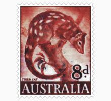 Australian Tiger Cat Postage Stamp by TravelShop