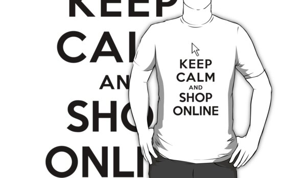 Keep Calm and Shop Online (Alternative white) by Yiannis  Telemachou
