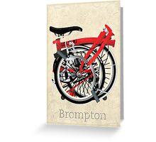Brompton Bicycle Folded Greeting Card