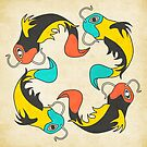 4 Koi Fish by JazzberryBlue