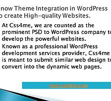 A leading service provider for wordpress by css4me123