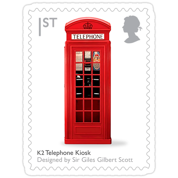 British Phone Box Postage Stamp by TravelShop