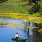 Old man fishing out of a row boat by GrishkaBruev