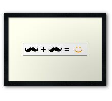 Love and happiness, guys Framed Print