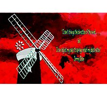Horsey Windmill with a Quote by Jimmy Dean Photographic Print