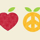 Apple and Orange - Peace and Love by radiomode