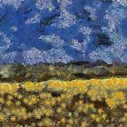 Field Of Flowers by Linda Miller Gesualdo