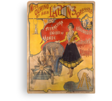 Poster advertising the show 'Miss Olwing and her Rabbits' (color litho) Canvas Print